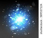 blue glitter particles... | Shutterstock .eps vector #589537124