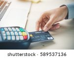mobile payment  online shopping ... | Shutterstock . vector #589537136