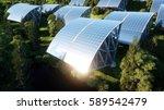 solar panels in wonderfull... | Shutterstock . vector #589542479
