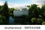 futuristic city  village. the... | Shutterstock . vector #589542488