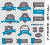 vintage labels and ribbons on... | Shutterstock .eps vector #589543328