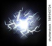 ball lightning. thunder...   Shutterstock .eps vector #589543724