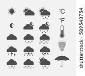 weather icons set. vector...   Shutterstock .eps vector #589543754