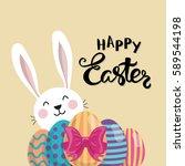 Happy Easter Typographic Poste...