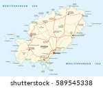 vector road map of the spanish... | Shutterstock .eps vector #589545338