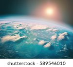 earth observation from the... | Shutterstock . vector #589546010