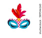 venetian carnival mask hand... | Shutterstock .eps vector #589546160