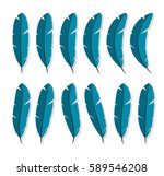 feathers collection icon flat... | Shutterstock .eps vector #589546208