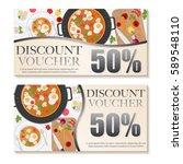 food voucher discount template...   Shutterstock .eps vector #589548110