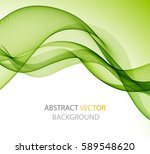 abstract green wave   Shutterstock .eps vector #589548620
