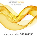abstract yellow wave | Shutterstock .eps vector #589548656