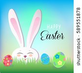 easter background with easter... | Shutterstock .eps vector #589551878