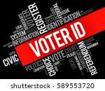 voter id word cloud collage  ... | Shutterstock .eps vector #589553720
