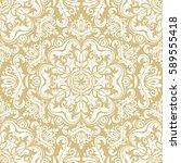 damask vector classic white... | Shutterstock .eps vector #589555418
