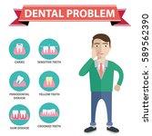 dental problem health care... | Shutterstock .eps vector #589562390