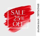 sale 25  off sign over art