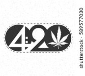 text 420 with cannabis leaf...