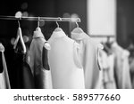 fashionable clothes in a... | Shutterstock . vector #589577660