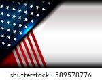 usa flag color backgrounds ... | Shutterstock .eps vector #589578776