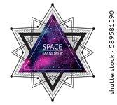space  cosmic mandala... | Shutterstock .eps vector #589581590