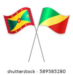 grenadian and congolese crossed ... | Shutterstock .eps vector #589585280