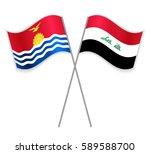 i kiribati and iraqi crossed...   Shutterstock .eps vector #589588700