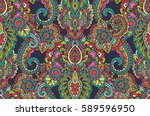 vector seamless pattern with... | Shutterstock .eps vector #589596950