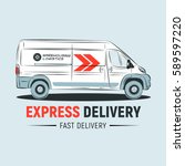 express delivery service logo...   Shutterstock .eps vector #589597220
