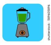 the stationary blender icon.... | Shutterstock .eps vector #589605896
