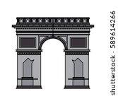 arc de triomphe icon image    Shutterstock .eps vector #589614266