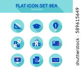 education icon set | Shutterstock .eps vector #589615649
