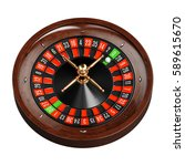 casino gold roulette stopped... | Shutterstock . vector #589615670