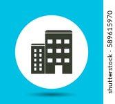 apartment icon. flat vector... | Shutterstock .eps vector #589615970