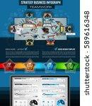 infograph brochure template... | Shutterstock . vector #589616348