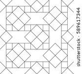 vector seamless pattern. modern ... | Shutterstock .eps vector #589617344