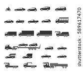 car icons | Shutterstock .eps vector #589617470