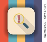 magnifying glass flat icon with ... | Shutterstock .eps vector #589617884