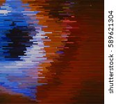 glitch abstract background with ... | Shutterstock . vector #589621304