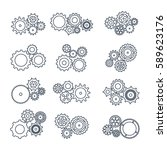 vector illustration. set icons... | Shutterstock .eps vector #589623176