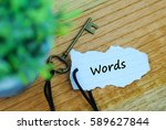 key and torn paper with text...   Shutterstock . vector #589627844