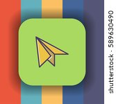 paper plane icon with outline... | Shutterstock .eps vector #589630490