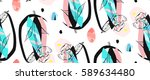 hand made abstract textured... | Shutterstock .eps vector #589634480