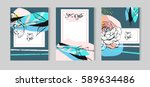 hand drawn vector abstract... | Shutterstock .eps vector #589634486