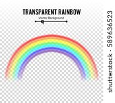 rainbow vector. classic round... | Shutterstock .eps vector #589636523