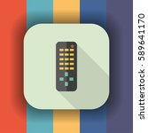 remote control flat icon with... | Shutterstock .eps vector #589641170