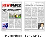 newspaper journal vector... | Shutterstock .eps vector #589642460