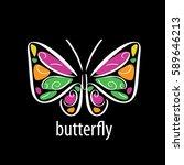 vector butterfly logo   Shutterstock .eps vector #589646213