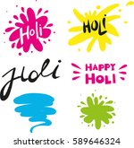 holi vector elements and...   Shutterstock .eps vector #589646324