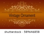 decorative golden frame with... | Shutterstock .eps vector #589646858