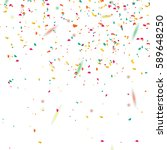 confetti abstract background... | Shutterstock .eps vector #589648250
